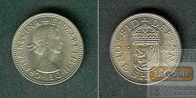 Großbritannien One Shilling 1961  f.stgl.