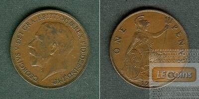 Großbritannien One Penny 1921  ss-vz