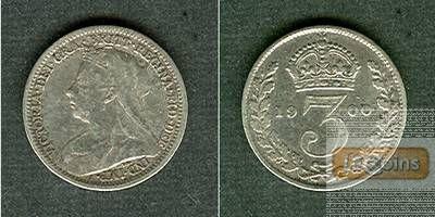 Großbritannien Three Pence 1900  ss+