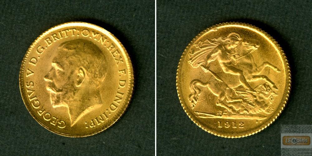 Großbritannien / Great Britain  GOLD  Half Sovereign 1912  vz-st
