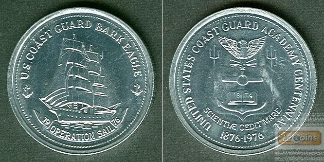 Medaille USA 100 Jahre USCG Academy 1976  vz-stgl.