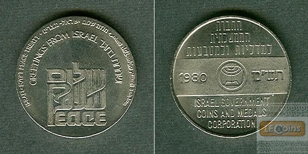 Medaille ISRAEL Friedensvertrag mit Ägypten 1980  f.stgl.