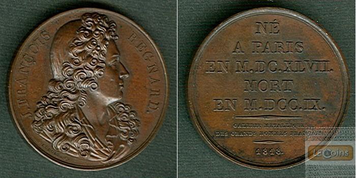 Medaille FRANKREICH 1818 J.F. Regnard  BRONZE  vz-stgl.