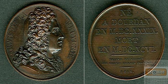 Medaille FRANKREICH 1819 J. Bruyere  BRONZE  vz-stgl.