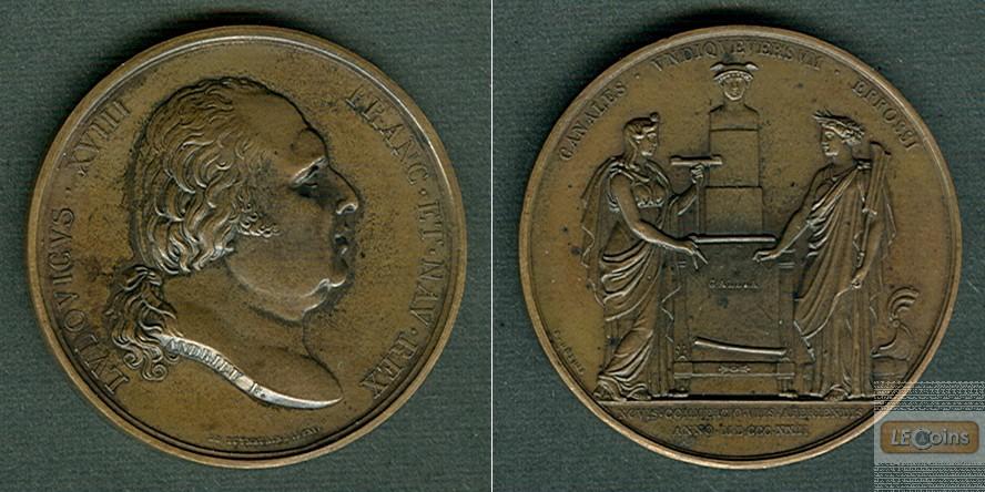 Medaille FRANKREICH 1822 Louis XVIII.  BRONZE  vz