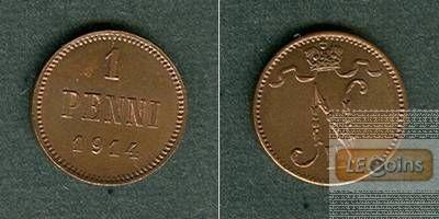 FINNLAND / Russland 1 Penni 1914  f.stgl.