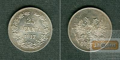 FINNLAND / Russland 25 Penniä 1917  f.stgl.