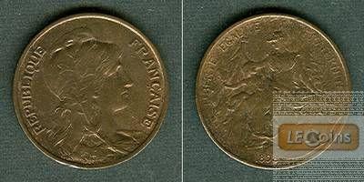 FRANKREICH 10 Centimes 1898  st/vz-st