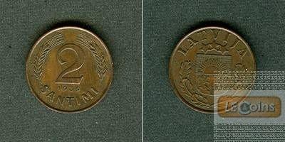 LETTLAND 2 Santimi 1939  vz-stgl.