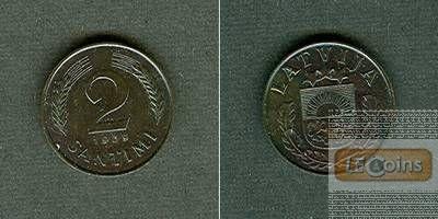 LETTLAND 2 Santimi 1939  f.stgl.