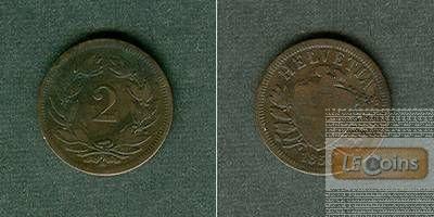 SCHWEIZ 2 Rappen 1850 A  f.ss