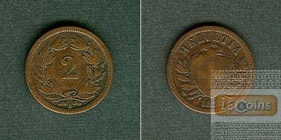SCHWEIZ 2 Rappen 1851 A  f.ss