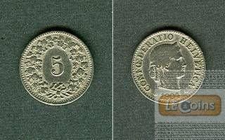 SCHWEIZ 5 Rappen 1904 B  ss-/ss