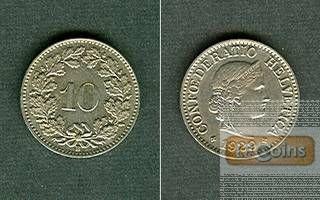 SCHWEIZ 10 Rappen 1929 B  vz-stgl.