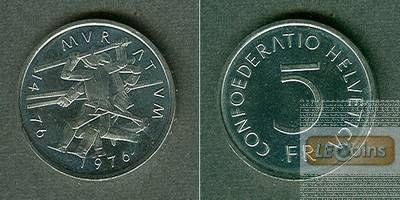 SCHWEIZ 5 Franken 1976  f.stgl. aus PP