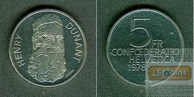 SCHWEIZ 5 Franken 1978  f.stgl. aus PP