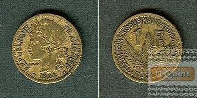FRANKREICH TOGO 1 Franc 1924  ss/ss+