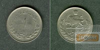 IRAN 1 Rial 1953 (1332)  ss