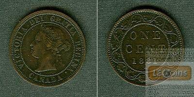 CANADA / KANADA 1 Cent 1881 H  ss+