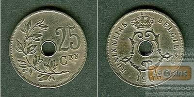 BELGIEN 25 Centimes 1908  ss+