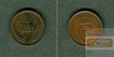 DÄNEMARK 1 Öre 1891 CS  vz+