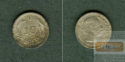 DÄNEMARK 10 Öre 1874 CS  ss  selten