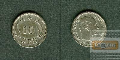 DÄNEMARK 10 Öre 1875 CS  ss  selten
