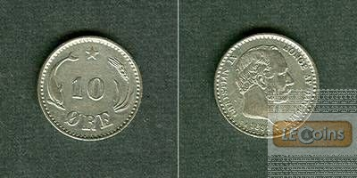 DÄNEMARK 10 Öre 1891 CS  vz+  selten