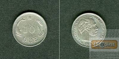 DÄNEMARK 10 Öre 1905 VBP  f.stgl.