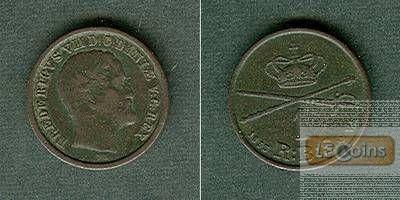 DÄNEMARK 1 Skilling 1853 VS  f.ss