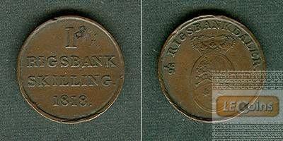 DÄNEMARK 1 Skilling 1818  ss+