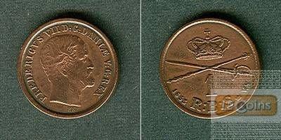 DÄNEMARK 1 Skilling 1853 VS  ss+