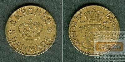 DÄNEMARK 2 Kronen 1936 GJ  ss