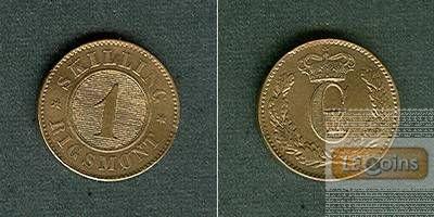 DÄNEMARK 1 Skilling 1871  f.stgl.  selten