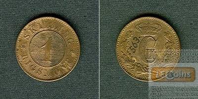 DÄNEMARK 1 Skilling 1871  vz-  selten
