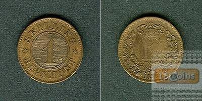 DÄNEMARK 1 Skilling 1856  ss-vz/f.vz