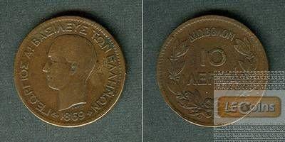 GRIECHENLAND 10 Lepta 1869 BB  ss/ss+