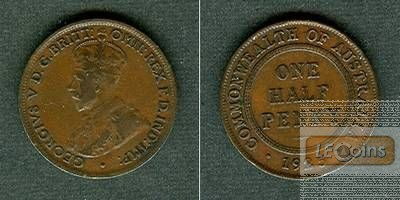 AUSTRALIEN One Half Penny 1925  ss+/vz