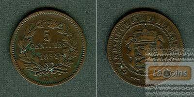 LUXEMBURG 5 Centimes 1854  ss+/ss