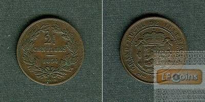 LUXEMBURG 2 1/2 Centimes 1854  vz-