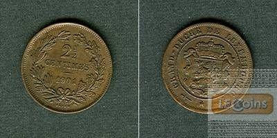 LUXEMBURG 2 1/2 Centimes 1901  vz-stgl.