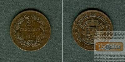 LUXEMBURG 2 1/2 Centimes 1854  ss
