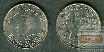 TUNESIEN 1 Dinar 1983  f.stgl.