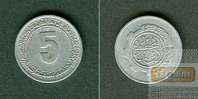 ALGERIEN 5 Centimes 1980  f.vz