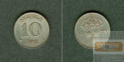 SCHWEDEN 10 Öre 1927  vz-stgl.