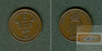SCHWEDEN 2 Öre 1894  ss-vz