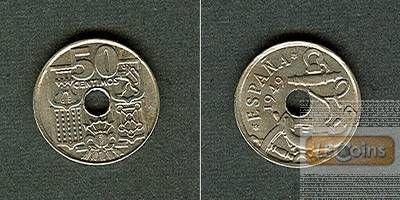 SPANIEN 50 Centimos 1956  f.stgl.