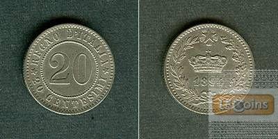 ITALIEN 20 Centesimi 1894 KB  vz/f.vz