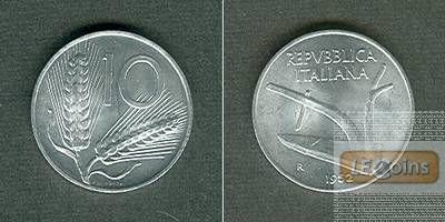 ITALIEN 10 Lire 1952 R  stgl.