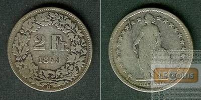 SCHWEIZ 2 Franken 1879 B  s+